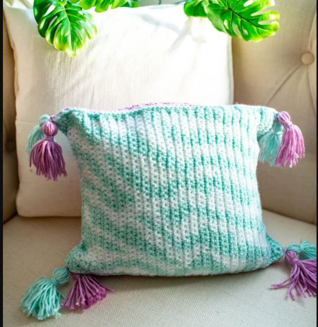 Almohadón cebra -Patrón crochet-