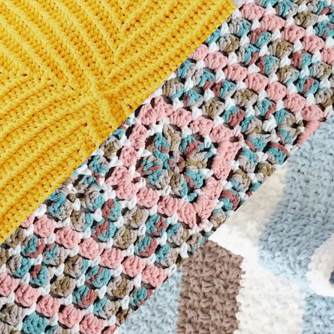 3 mantas Squishy para bebe en crochet