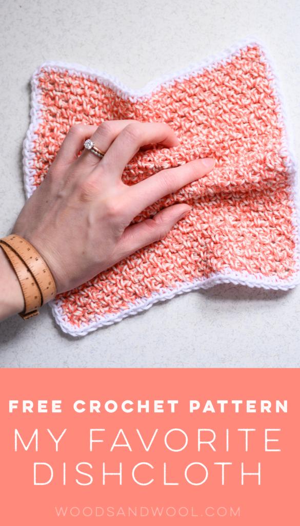 Repasador de cocina a crochet By Woods and Wool