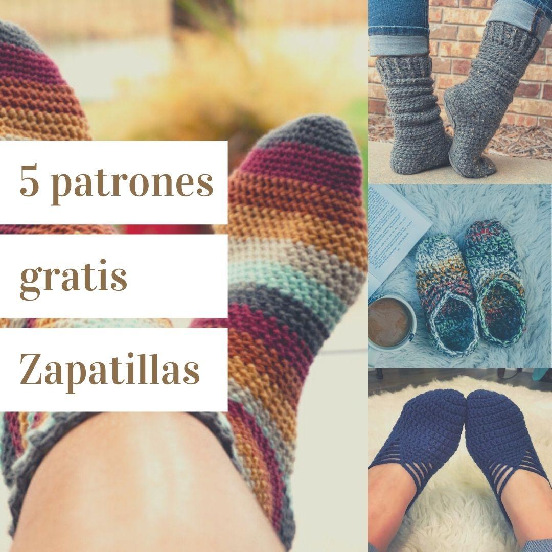 5 patrones de zapatillas en ganchillos para toda la familia By Heart Hook Home