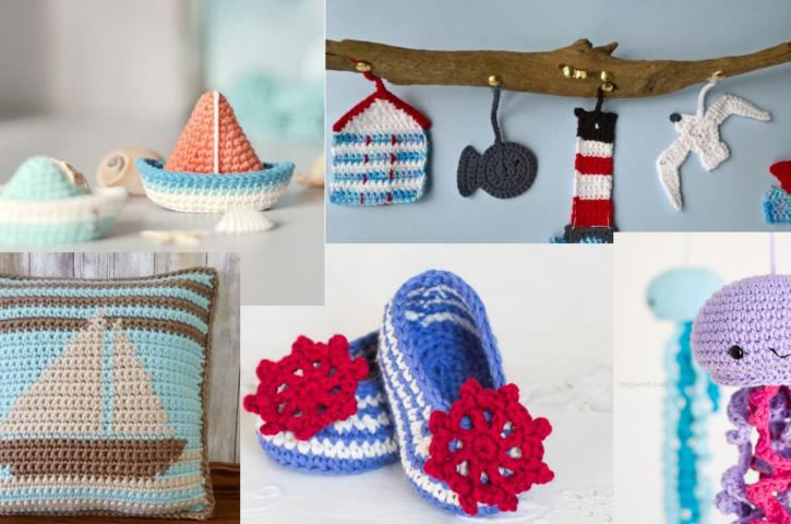 Bajo el mar 5 patrones gratuitos náuticos a crochet