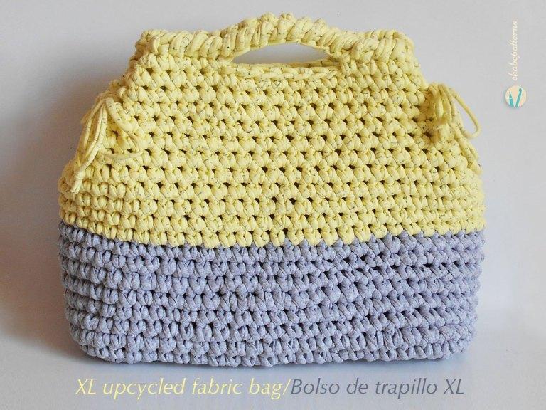 Crochet BOLSO XL DE TEJIDO RECICLADO
